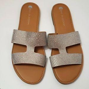 BIG BUDDHA Rhinestone Sparkle Sandals size 10